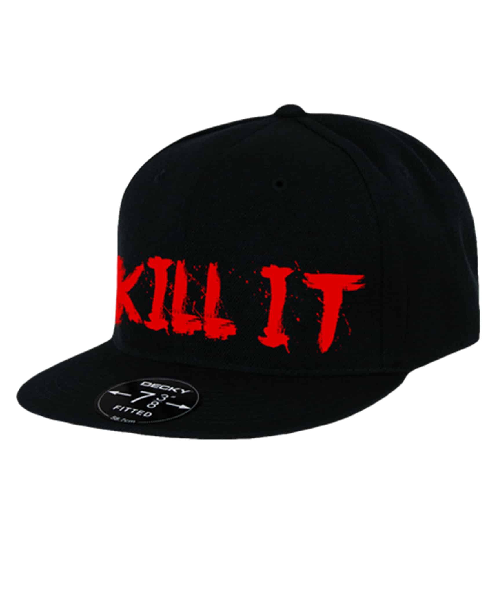 5% - KILL IT Šiltovka, čierna - červený nápis