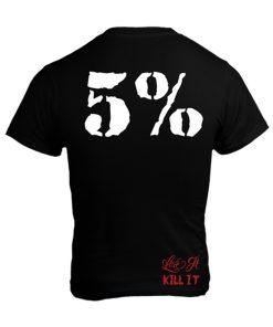 5% - Tričko - 5 Percent - biely nápis
