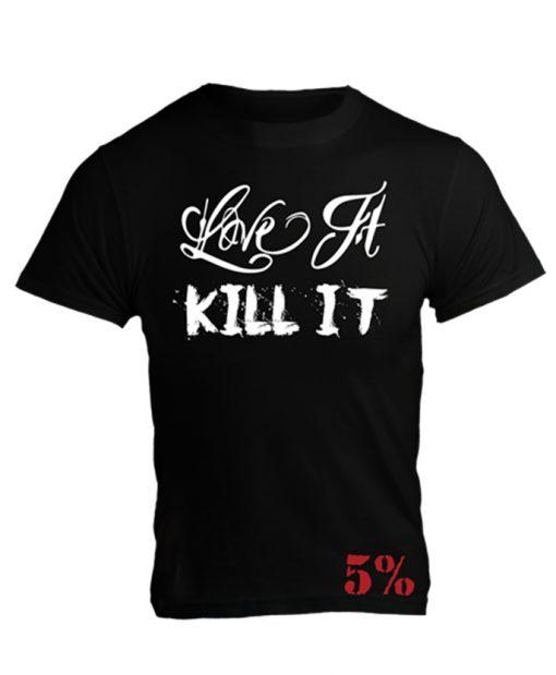 5% - Tričko Dirty - biely nápis