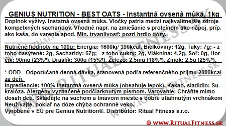 Genius Best Oats, 1kg, Chocolate