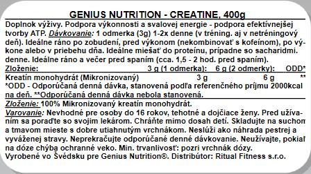 Genius Creatine, 400g