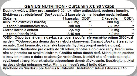 Genius Curcumin XT, 90kaps