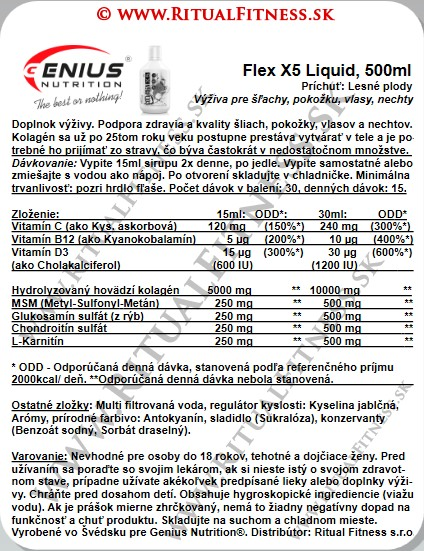 Genius Nutrition® Flex X5