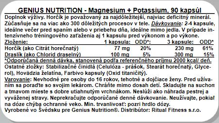 Genius Magnesium Potassium, 90kps