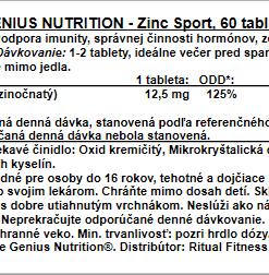 Genius Zinc Sport, 60tbl