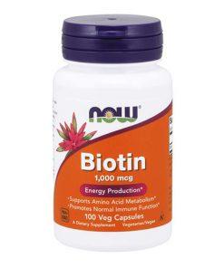 NOW - Biotin (Vitamín B7)