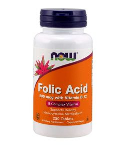 NOW - Folic acid (B9) + B12