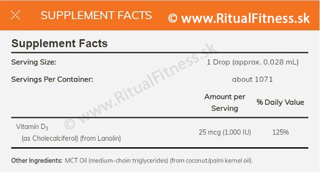 NOW - Vitamin D3 Drops