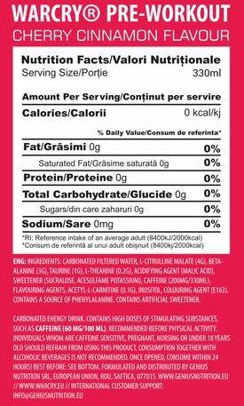 Genius Nutrition® Warcry plechovka