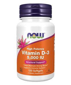 NOW - Vitamin D3 5000 IU