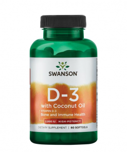 Swanson - Vitamin D3 + Coconut oil