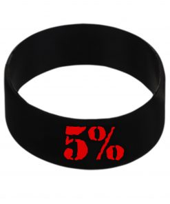 5% - Silikónový náramok červený