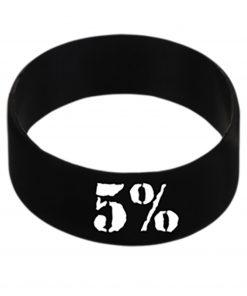 5% - Silikónový náramok biely